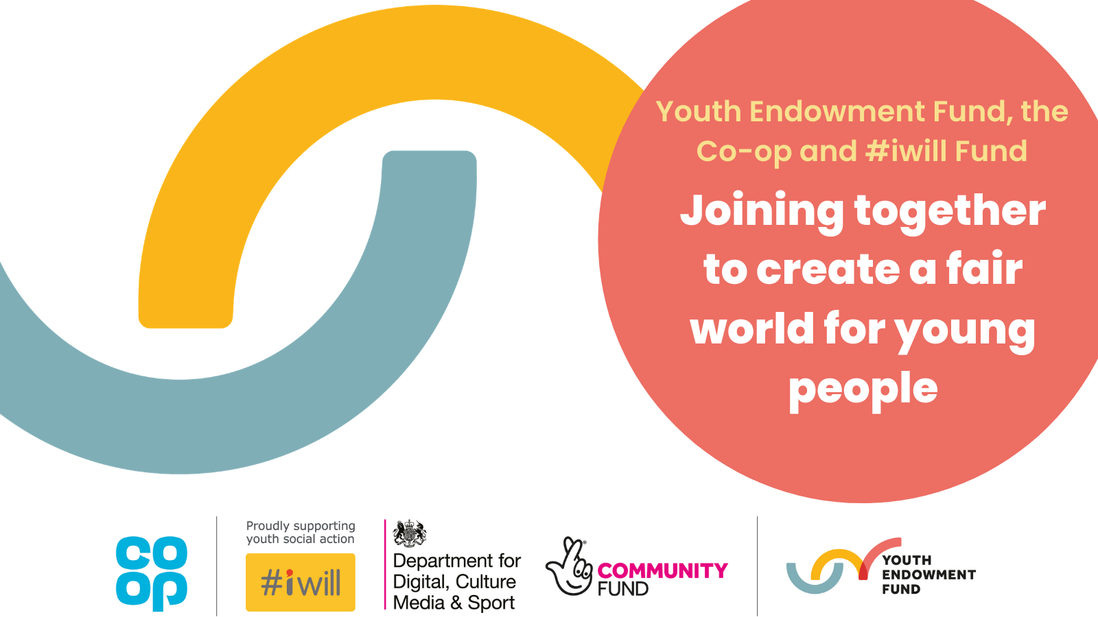 The Youth Endowment Fund, the #iwill Fund and the Co-op join together, empowering young people to create a fairer world